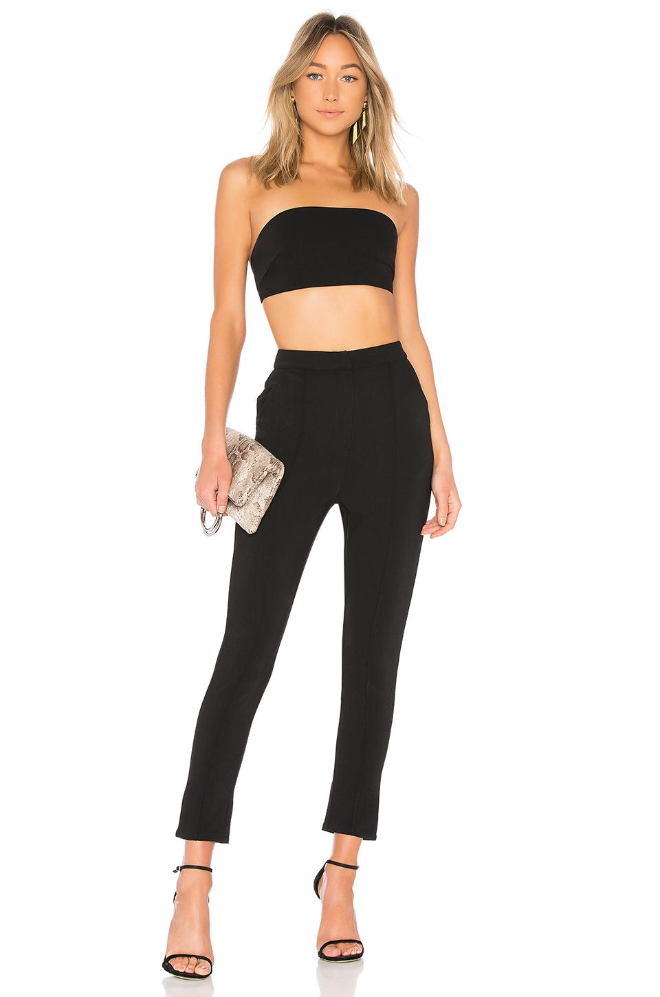 By The Way. Remy Bandeau Pant Set In Black