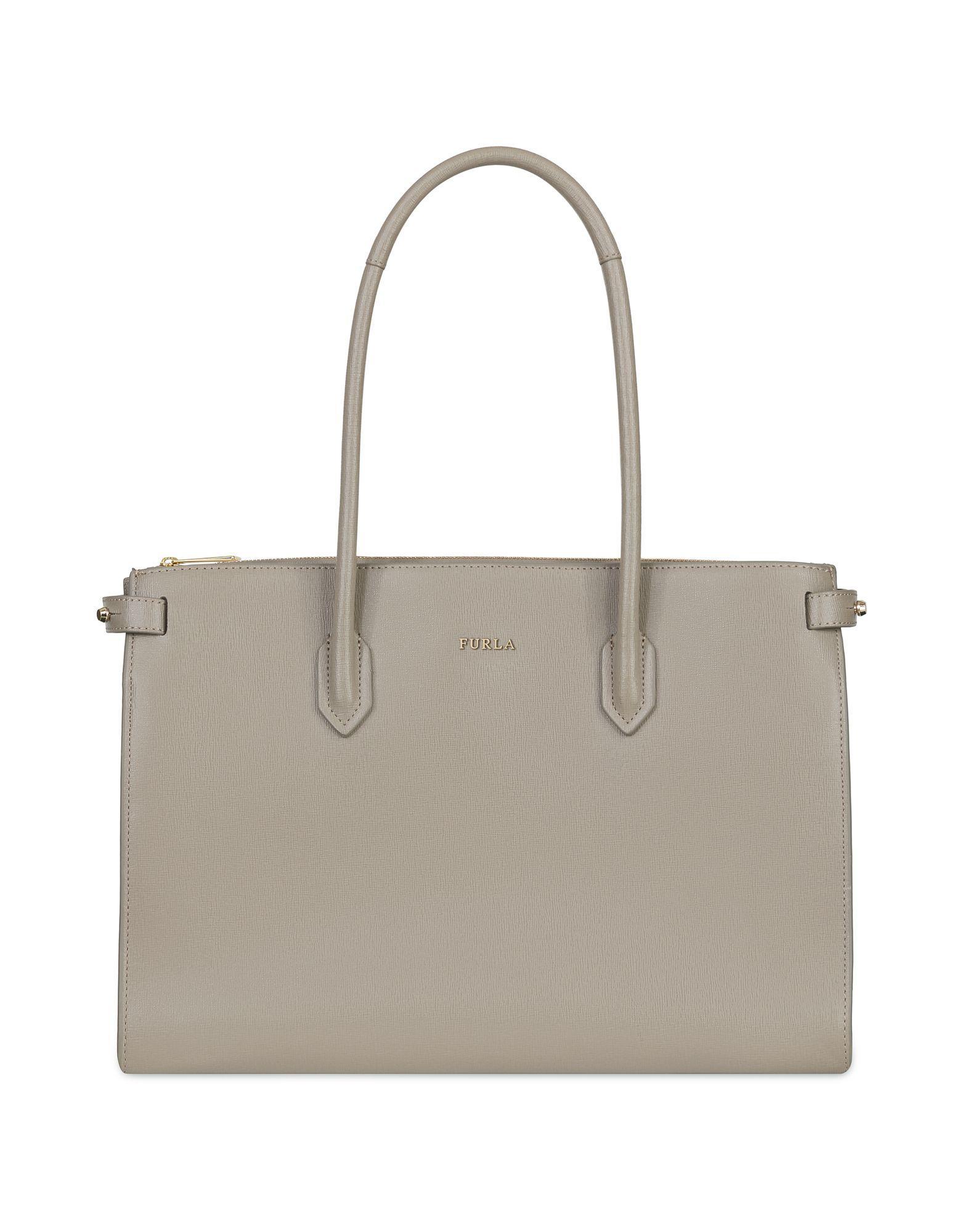 Furla Handbag In Dove Grey