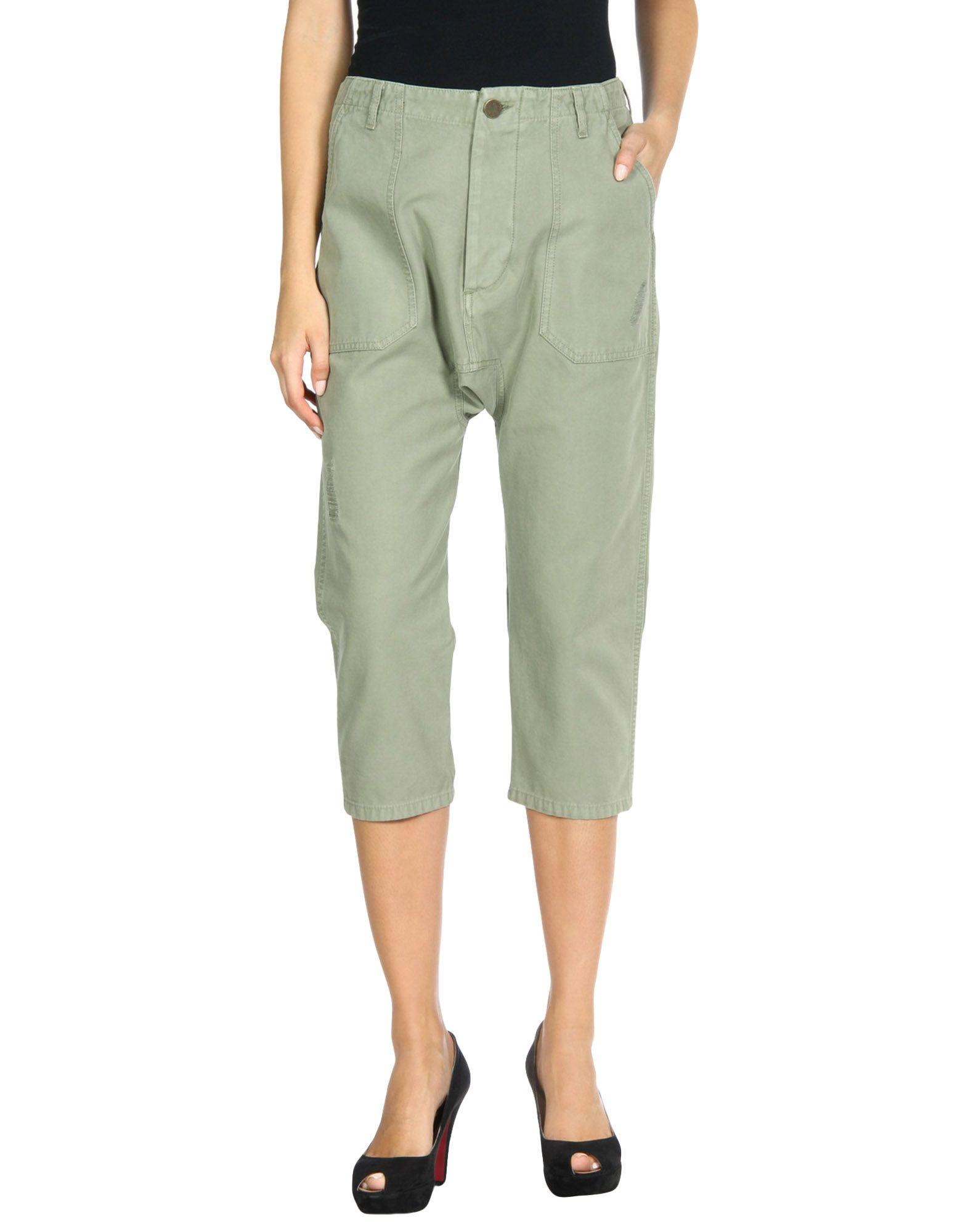 Etienne Marcel Cropped Pants & Culottes In Light Green