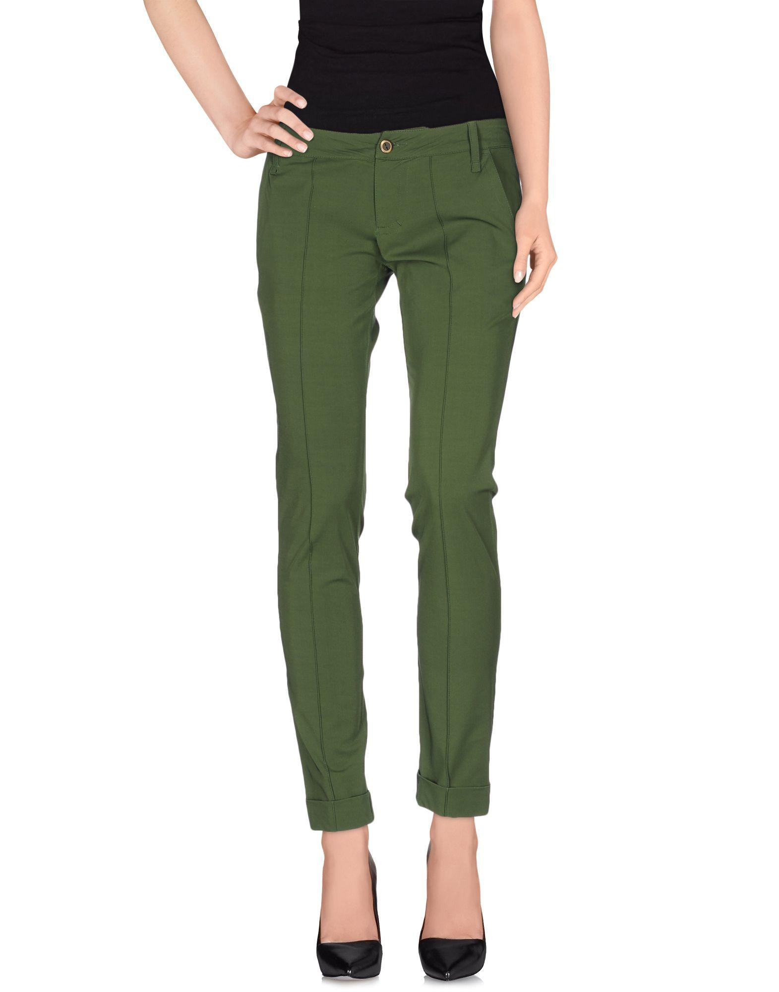 Plein Sud Casual Pants In Military Green