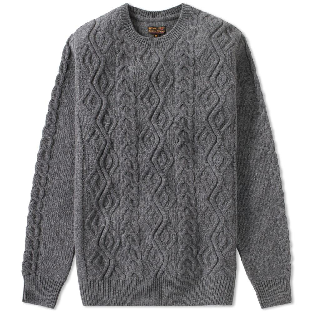 Barbour Barnard Cable Crew In Grey