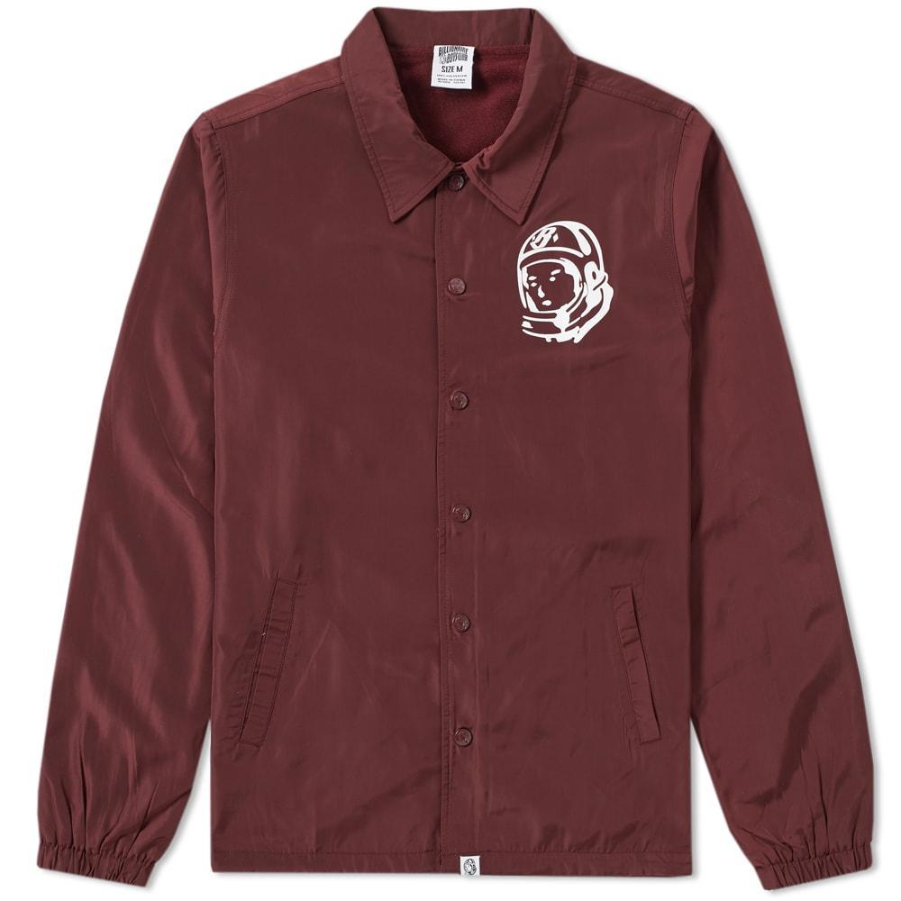 Billionaire Boys Club Classic Logo Coach Jacket In Burgundy