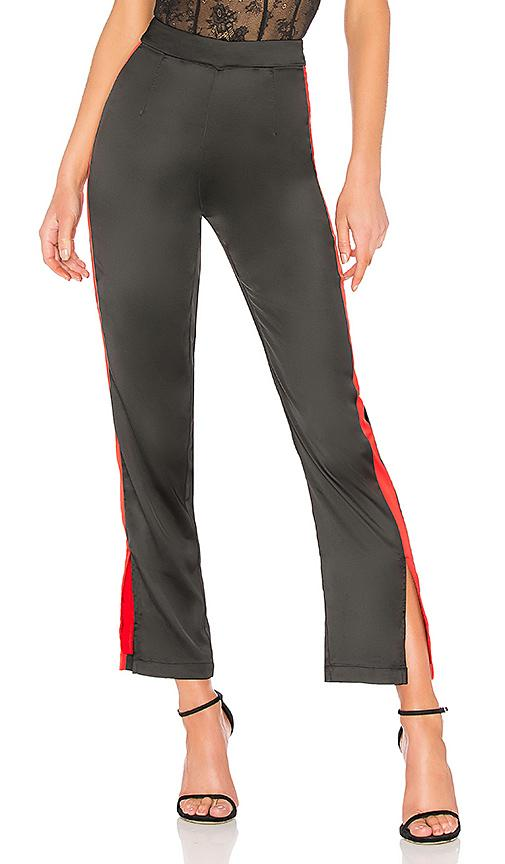 By The Way. Lynna Side Slit Track Pant In Black