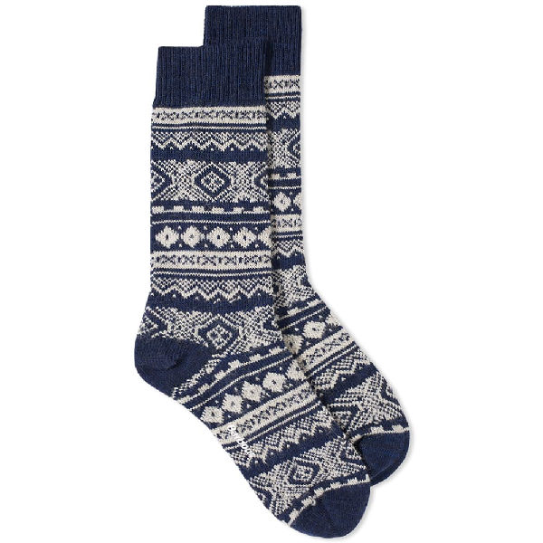 Barbour Onso Fair Isle Sock In Blue