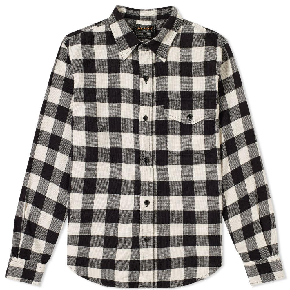 Beams Plus Guide Check Shirt In White