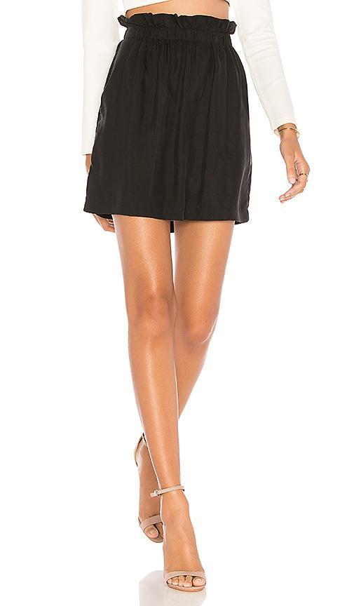 1.state Paperbag Mini Skirt In Black