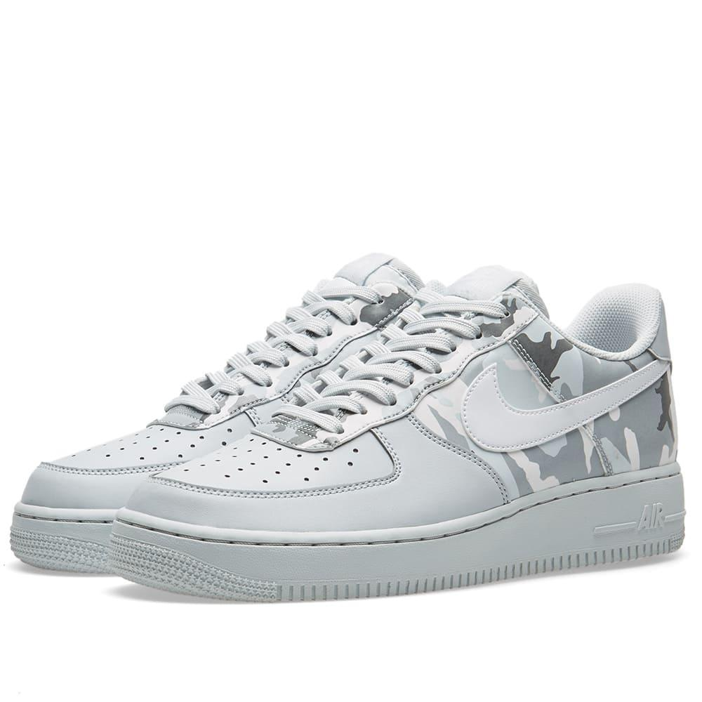 Nike Air Force 1 '07 Lv8 Half Camo In Grey