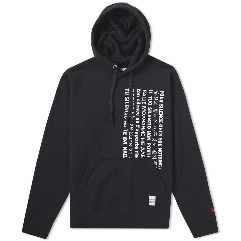 Converse X Slam Jam Essentials Popover Hoody In Black