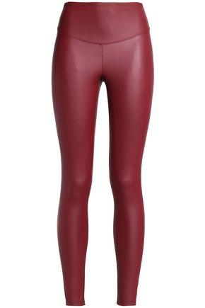 Yummie By Heather Thomson Woman Faux Leather Leggings Claret