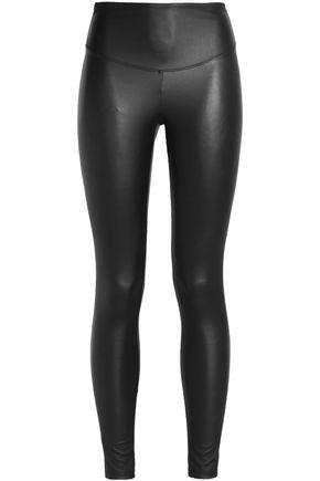 e1a7208c7390b2 Yummie By Heather Thomson Woman Faux Leather Leggings Charcoal ...