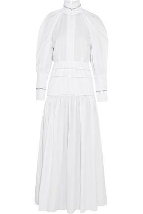 Ellery Woman Sword Embroidered Cotton Dress White