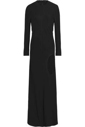 Haider Ackermann Woman Cutout Crepe Maxi Dress Black