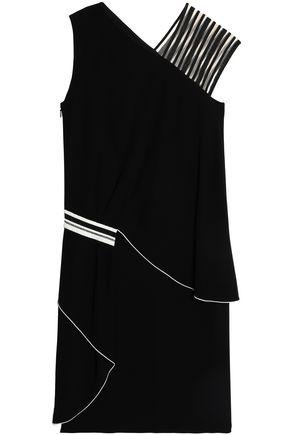 Vionnet Woman Paneled Tulle And Crepe Dress Black