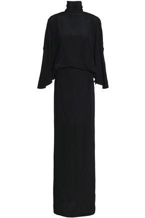 Chalayan Woman Tie-back Silk Gown Black
