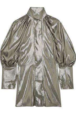 Ellery Woman Witch Doctor Silk-blend LamÉ Mini Dress Platinum
