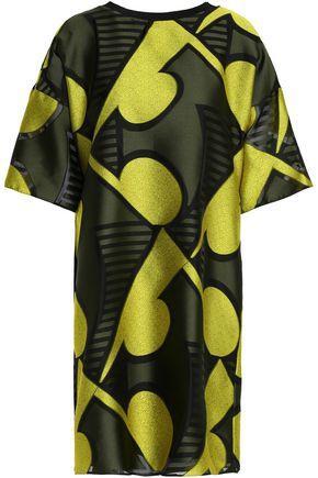 Vionnet Woman Fil CoupÉ Mini Dress Yellow