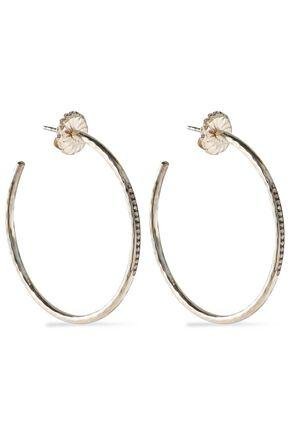 Ippolita Woman Sterling Silver And Diamond Hoop Earrings Silver
