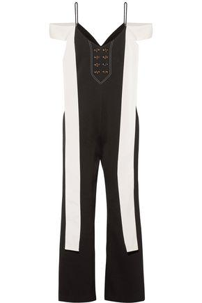 Ellery Woman Regina Twill-trimmed Cady Jumpsuit Black