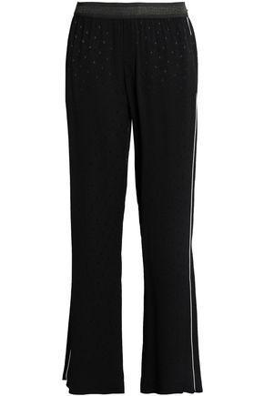 Just Cavalli Woman Jacquard Straight-leg Pants Black