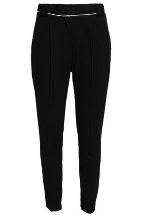 Vionnet Woman Crepe Tapered Pants Black