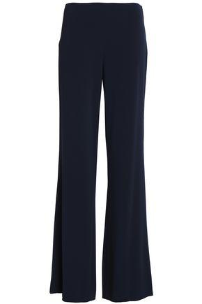 Diane Von Furstenberg Woman Crepe-satin Wide-leg Pants Midnight Blue
