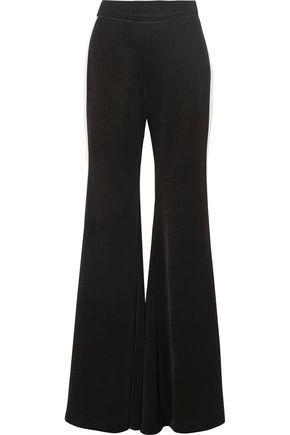 Ellery Woman Lovedolls Striped Crepe De Chine Wide-leg Pants Black