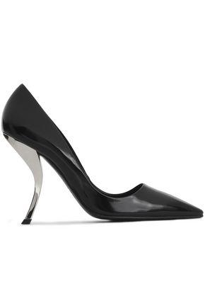 Roger Vivier Woman Glossed-leather Pumps Black