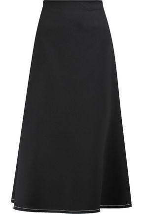 Ellery Woman Beedee Flared Crepe Midi Skirt Black