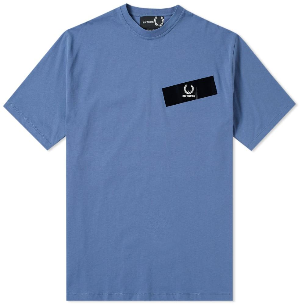 Raf Simons Fred Perry X  Tape Detail Tee In Blue
