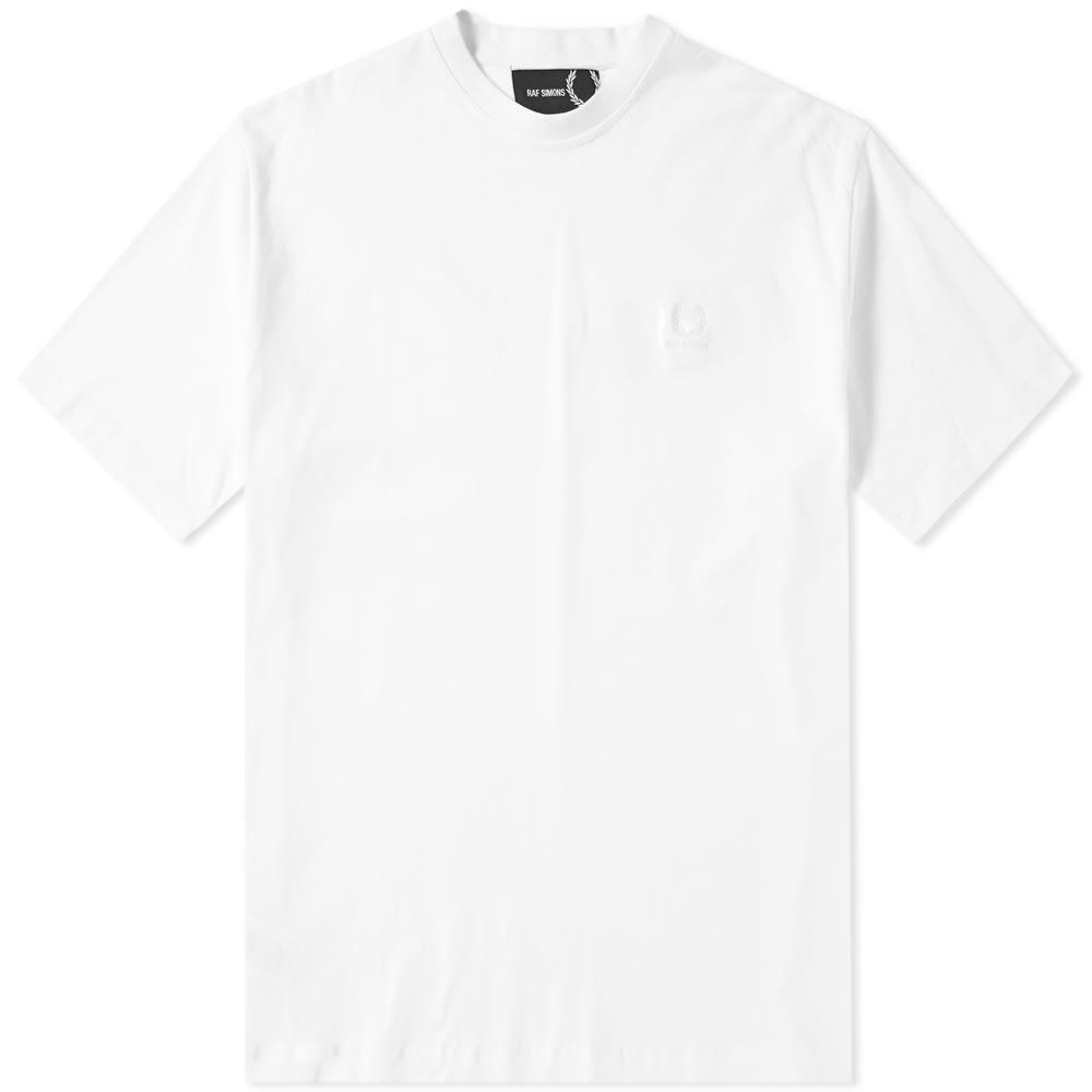 Raf Simons Fred Perry X  Tape Detail Tee In White