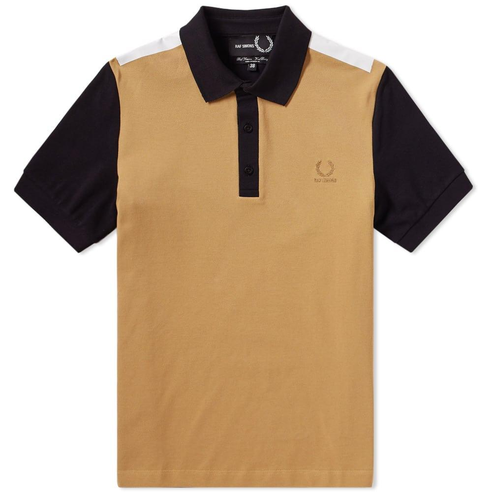 Raf Simons Fred Perry X  Tape Detail Pique Polo In Yellow