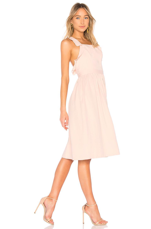 Ulla Johnson Willa Pinafore Dress In Rose