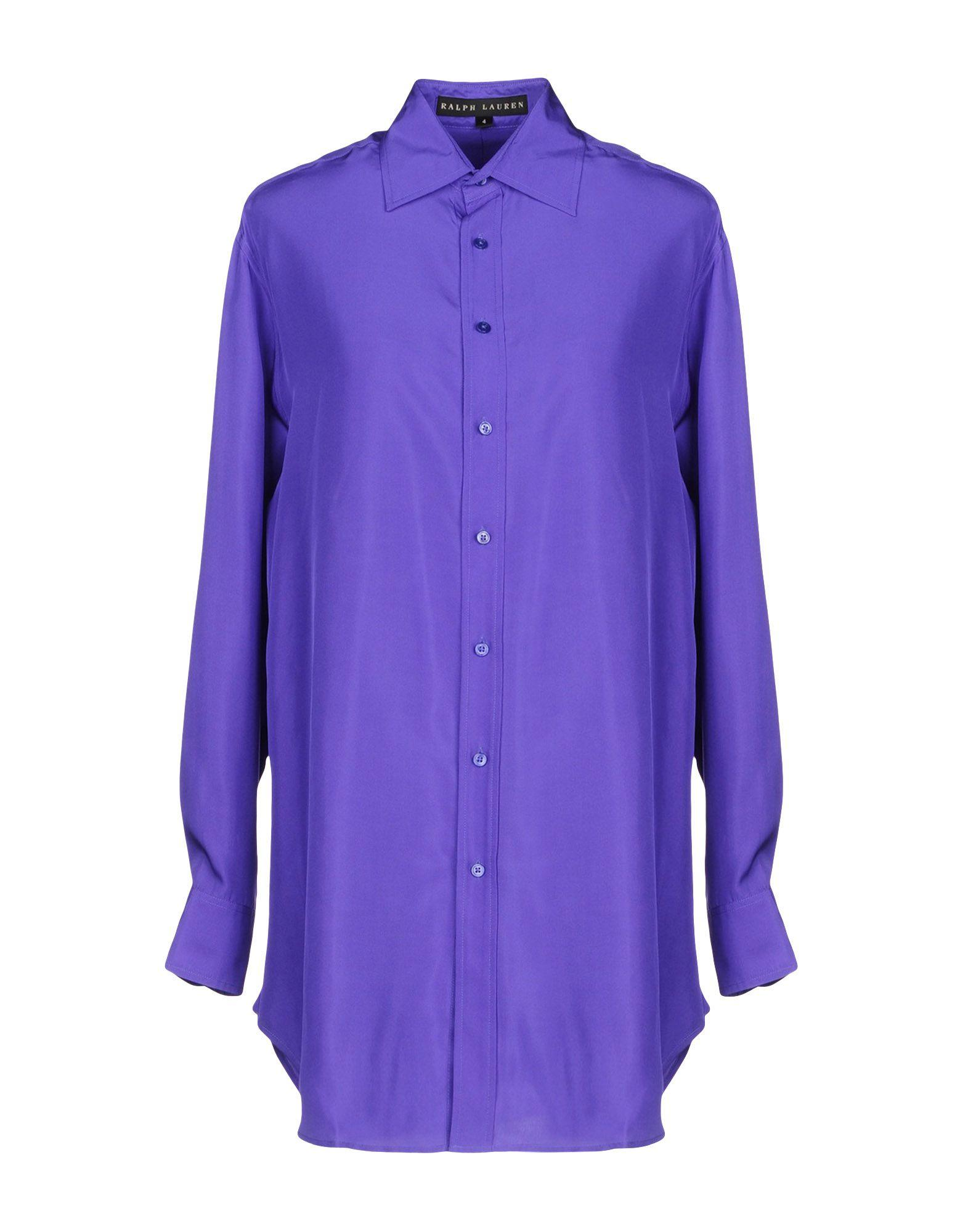 Ralph Lauren Silk Shirts & Blouses In Purple