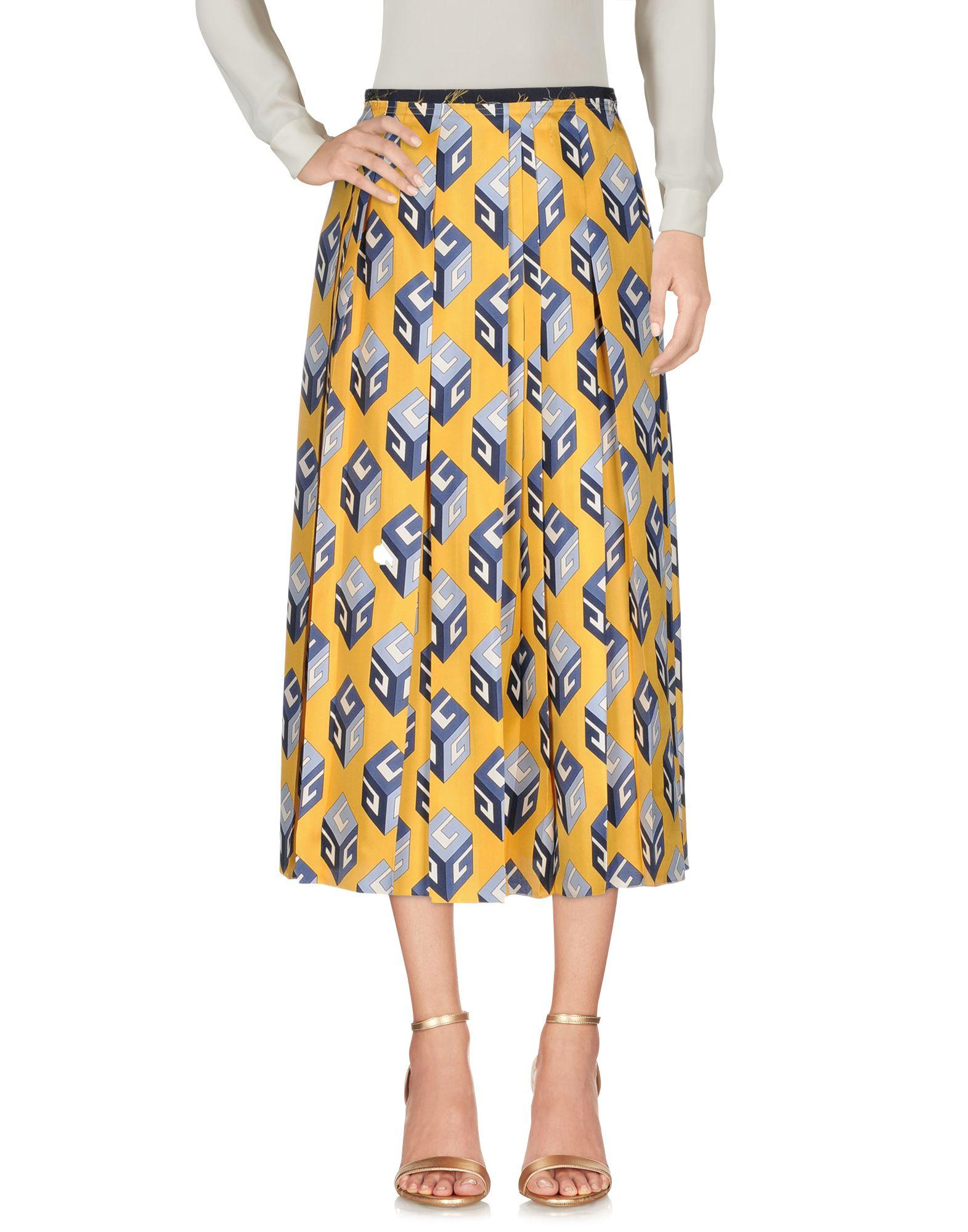 Gucci 3/4 Length Skirts In Yellow