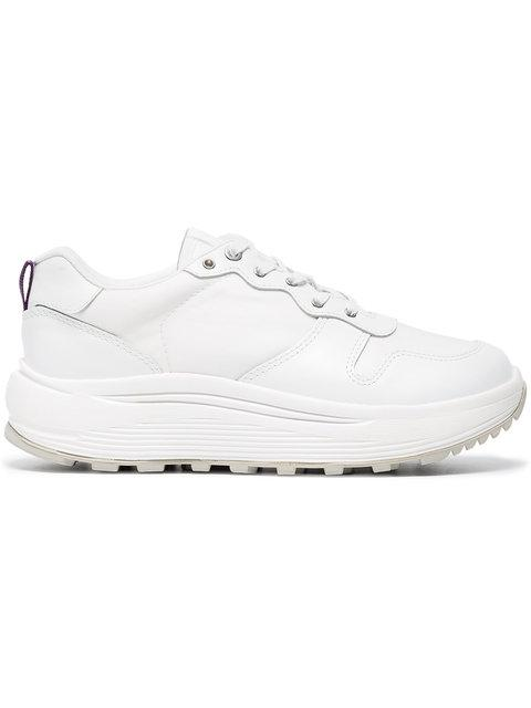 Eytys White Jet Combo Leather Sneakers