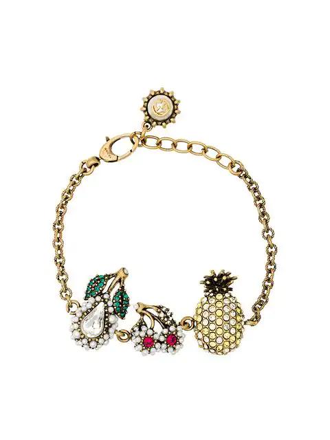 Gucci Armband Mit KristallfrÜchten In Metallic