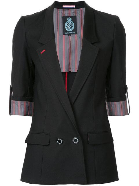 Guild Prime Double Breasted Blazer In Black