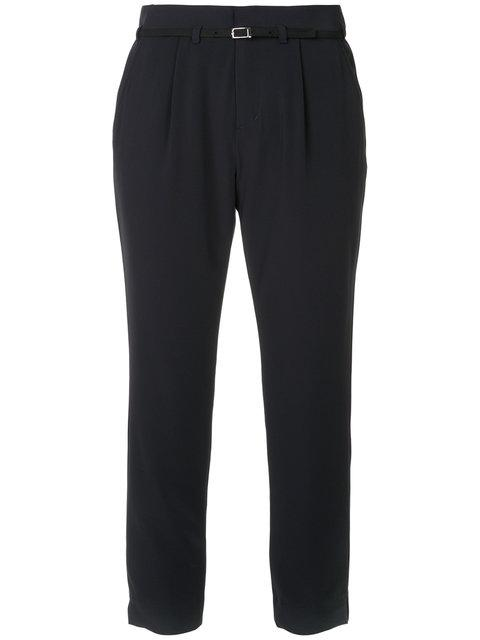 Guild Prime Belted Tailored Trousers In Blue