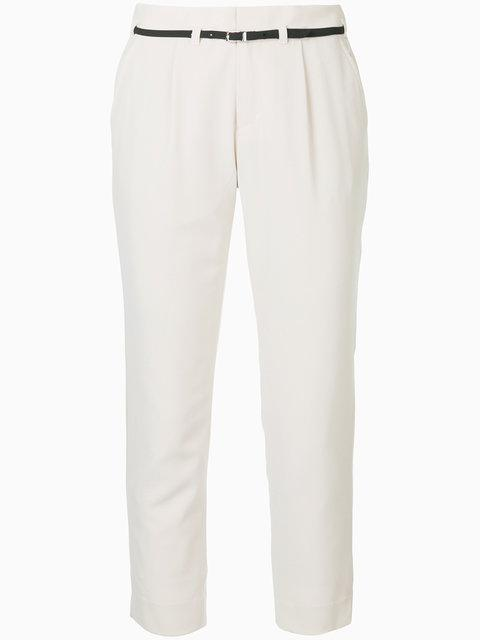 Guild Prime Belted Tailored Trousers - White