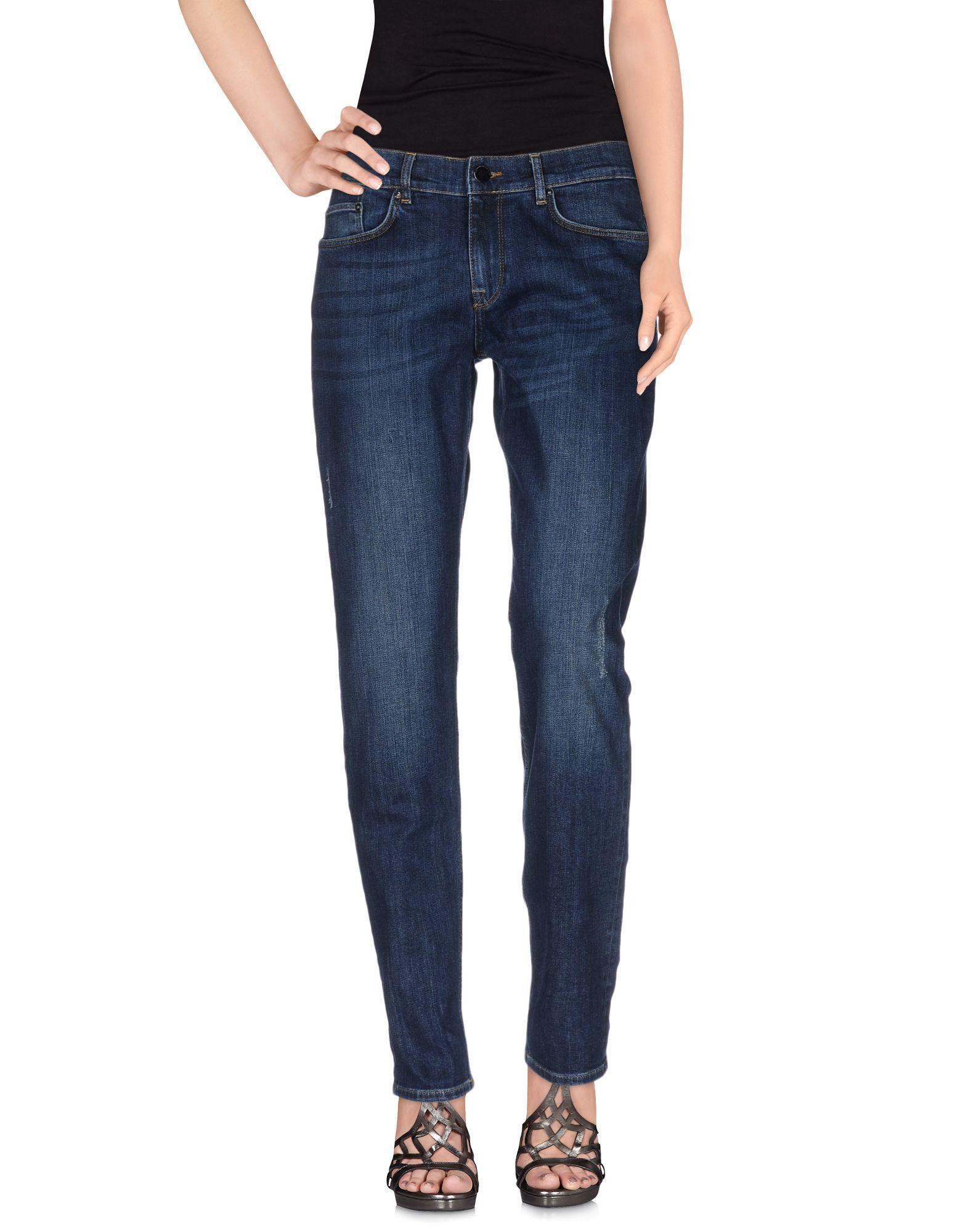 Victoria Beckham Denim Pants In Blue