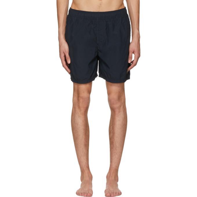 Stone Island Navy Logo Swim Shorts