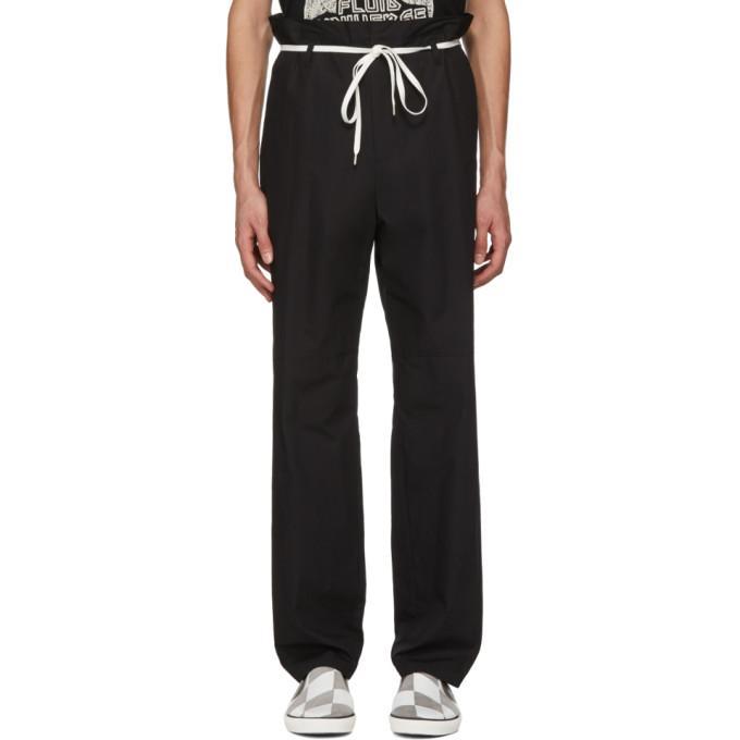 Ambush Black Khaki Shoe Laced Trousers