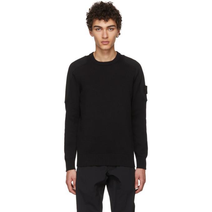Stone Island Black Ghost Shoulder Sweater