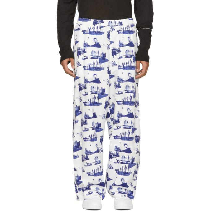 Name. White And Blue Space Pyjama Trousers In 01.wht.blu