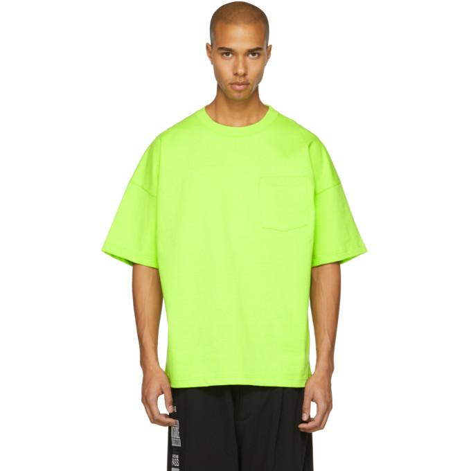 Name. Green Oversized Single Pocket T-shirt