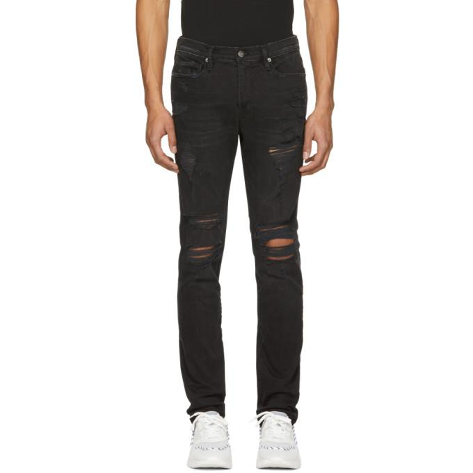 Frame Black Lhomme Released Hem Skinny Jeans