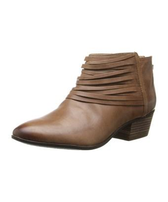 Clarks Womens Spye Celeste Leather Round Toe Ankle Cowboy Boots In Brown