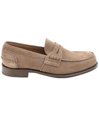 Church's Men's  Beige Suede Loafers In Brown