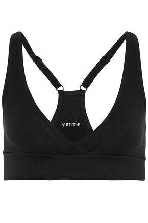 Yummie By Heather Thomson Woman High-rise Stretch-knit Thong Black