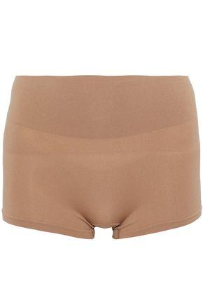 Yummie By Heather Thomson Woman Stretch-jersey Shorts Sand
